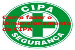 Como fazer o dimensionamento da CIPA
