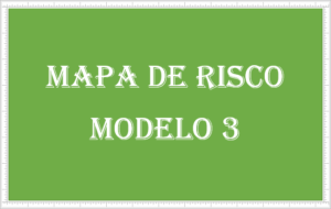 Modelo 3 do mapa de risco