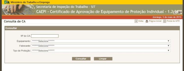O que é o C.A - Certificado de Aprovação do EPI e para que ele serve